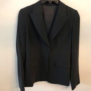 Theory Womens Black Blazer Jacket Size 4